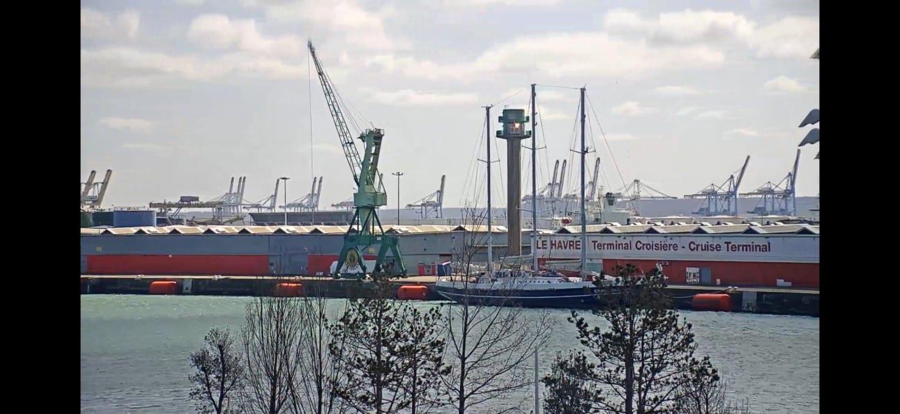 Eendracht op webcam Le Havre